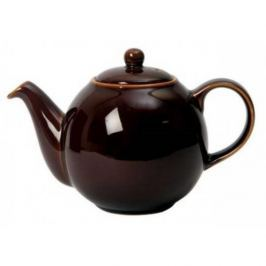 Dzbanek do herbaty i kawy ceramiczny LONDON POTTERY GLOBE BRĄZOWY 1,1 l