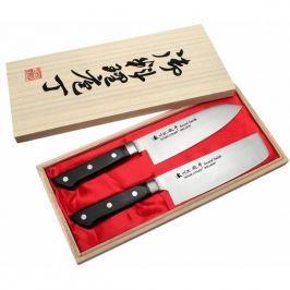 Noże kuchenne ze stali nierdzewnej SATAKE KATSU PROFESSIONAL SET CZARNE 2 szt.