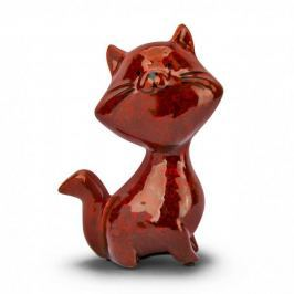 Skarbonka ceramiczna DUO KOT BORDOWA