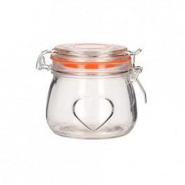 Słoik na miód szklany BELA SERCE 0,5 l
