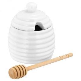 Pojemnik na miód z nabierką porcelanowy JUDGE TABLE BIAŁY 0,2 l