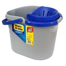 Wiadro do mopa plastikowe z wyciskaczem JAN NIEZBĘDNY MEDUSA SZARE 12 l