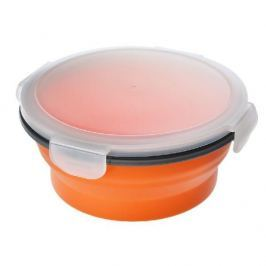Lunch box silikonowy składany POMARAŃCZOWY 0,7 l