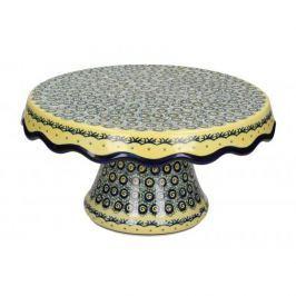 Patera stała na ciasto ceramiczna GU-1762 DEK. DU1 Bolesławiec 26,5 cm - stojak na tort