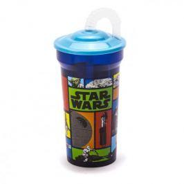 Kubek dla dziecka plastikowy ze słomką DISNEY STAR WARS NIEBIESKI 350 ml