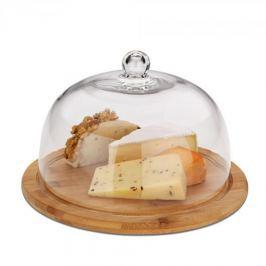 Deska do serwowania serów i przekąsek z kloszem drewniana KELA KEATANA 24 cm