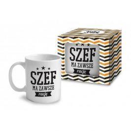 Kubek ceramiczny boss z napisem FUN SZEF MA ZAWSZE RACJĘ 330 ml