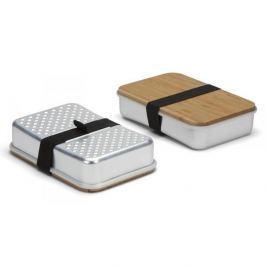 Lunch box aluminiowy BLACK BLUM SANDWICH ON BOARD SREBRNY