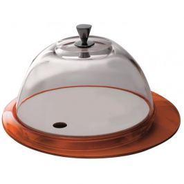 Patera stała na ciasto ze szklanym kloszem BUGATTI GLAMOUR POMARAŃCZOWA