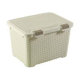 Pudło do przechowywania dekoracyjne plastikowe CURVER STYLE KREMOWE 43 l