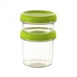 Pojemniki na żywność plastikowe CURVER SMART TO GO ZIELONE 2 szt.