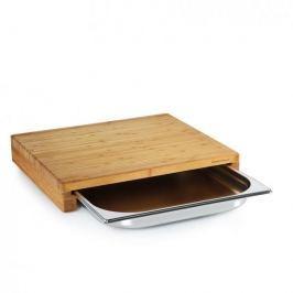 Deska do krojenia bambusowa z szufladą ZASSENHAUS ECO LINE BRĄZOWA 39 x 35 cm
