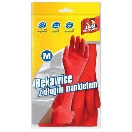 Rękawiczki lateksowe z długim mankietem JAN NIEZBĘDNY CZERWONE M