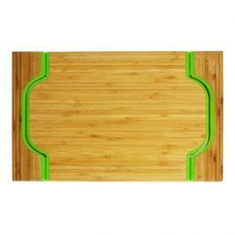 Taca bambusowa JUNGLE ZIELONA 40 x 30 cm