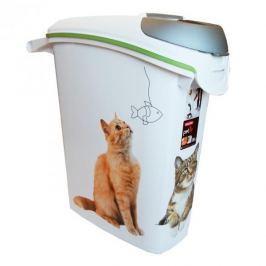 Pojemnik na karmę plastikowy CURVER CATS BIAŁY 23 l