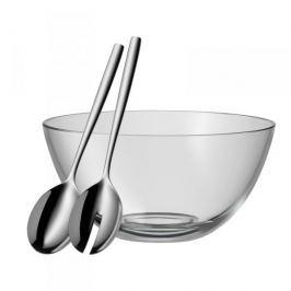 Miska / Salaterka szklana z łyżkami do sałatek WMF PROFI