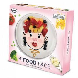 Talerz obiadowy płytki ceramiczny INVOTIS FOOD FACE GIRL 21 cm