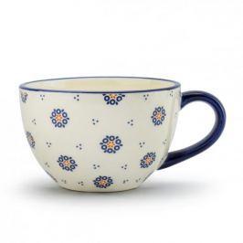 Filiżanka do kawy i herbaty ceramiczna FOLKLOR KÓŁKA KREMOWA 620 ml