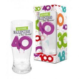 Szklanka do piwa BALONIKI 40-ste URODZINY 600 ml