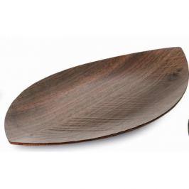 Taca drewniana LEGNOART LEAF ORZECH 44,5 x 25 cm