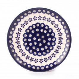 Talerz deserowy ceramiczny GU-814 DEK. 166A Bolesławiec 19,5 cm