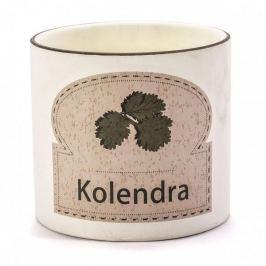 Doniczka na zioła ceramiczna KOLENDRA KREMOWA 13,5 cm