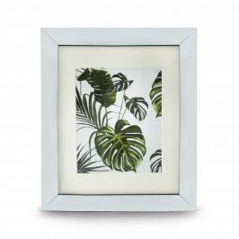 Obraz szklany DUO LEAVES BIAŁY 41,5 x 35 cm