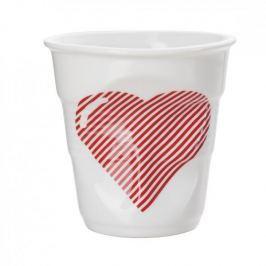 Kubek do espresso porcelanowy REVOL FROISSES SERCE BIAŁY 80 ml
