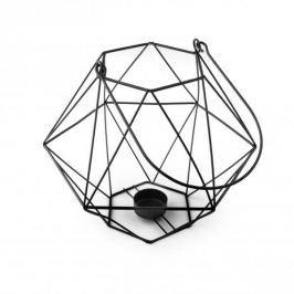 Lampion ozdobny metalowy MONDEX CEDRIC CZARNY 21 cm