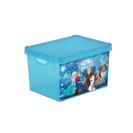Pojemnik na zabawki plastikowy CURVER DECO'S KRAINA LODU NIEBIESKI 39,5 x 29,5 cm