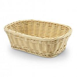 Koszyk na chleb i pieczywo plastikowy  WICKER BEGIE BEŻOWY 26 x 19 cm