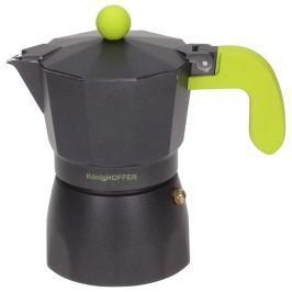 Kawiarka aluminiowa ciśnieniowa KONIGHOFFER BLACK AMERICANO COFFEE CZARNA - kafetiera na 3 filiżanki espresso