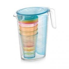 Dzbanek do napojów z wkładem na owoce i kubkami plastikowy TESCOMA MY DRINK NIEBIESKI 2,5 l