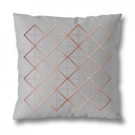 Poszewka na poduszkę ozdobna bawełniana MISS LUCY MESH SZARA 40 x 40 cm