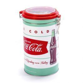 Puszka na herbatę metalowa FLORINA COCA COLA ICE COLD OKRĄGŁA BIAŁA 1,5 l