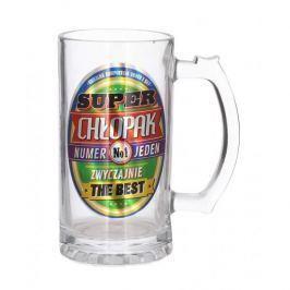 Kufel do piwa szklany PAN DRAGON SUPER CHŁOPAK 0,5 l