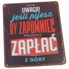Tabliczka z napisem dekoracyjna metalowa PAN DRAGON VINTAGE ZAPŁAĆ