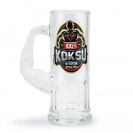 Kufel do piwa szklany 100% KOKSU W KOKSIE 500 ml