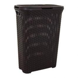 Brudownik / Kosz na pranie i bieliznę plastikowy CURVER STYLE BRĄZOWY 40 l