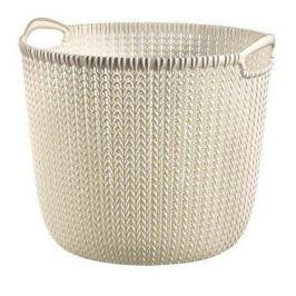 Koszyk do przechowywania plastikowy CURVER KNIT KREMOWY