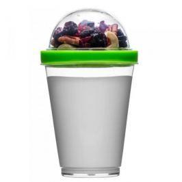 Pojemnik na jogurt i owoce plastikowy SAGAFORM FRESH ZIELONY
