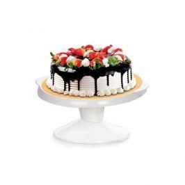 Patera obrotowa do dekoracji ciast plastikowa TESCOMA DELICIA BIAŁA 29 cm - stojak na tort
