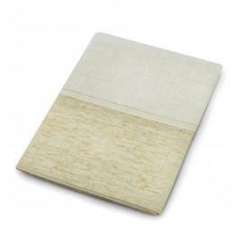 Obrus na stół plamoodporny poliestrowy MESA WICE BEŻOWY 85 x 85 cm
