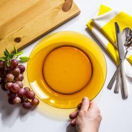 Talerz obiadowy płytki szklany DURALEX VERMEIL POMARAŃCZOWY 23,5 cm