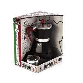 Kawiarka elektryczna aluminiowa ciśnieniowa GAT 9ISSIMA RED - kafetiera na 4 filiżanki espresso