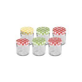 Słoiki na miód szklane TESCOMA DELLA CASA WIELOKOLOROWE 0,2 l 6 szt.