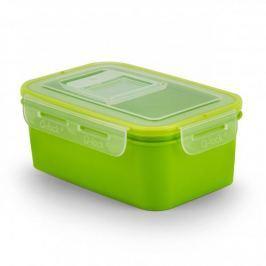 Pojemnik na żywność plastikowy BRANQ QLOCK RECTANGLE ZIELONY 1 l