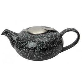 Dzbanek do herbaty ceramiczny z zaparzaczem LONDON POTTERY PEBBLE CZARNY 0,6 l