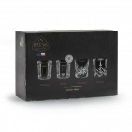 Szklanki do whisky szklane BERLIN 300 ml - Komplet 6 kieliszków