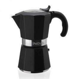 Kawiarka aluminiowa ciśnieniowa FOREVER INNOVA CZARNA - kafetiera na 6 filiżanek espresso